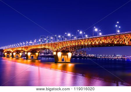 Seongsu Bridge In Seoul,korea