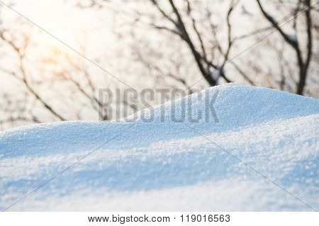 Fresh Snow Cover,winter Background.