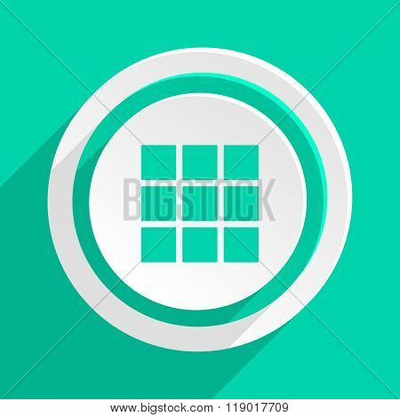 thumbnails grid flat design modern web icon with shadow for internet and app