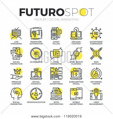 Digital Media Futuro Spot Icons