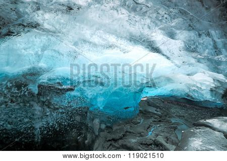 Ice Cave at Vatnajokull Glacier Jokulsarlon Iceland