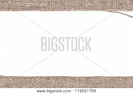 Textile structure, fabric products, buff canvas, full material, dirty background