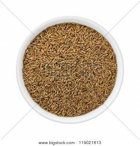 Cumin Seed In A Ceramic Bowl