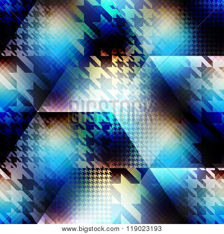 Houndstooth pattern on abstract blur background.