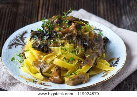 Tagliatelle with mushroom