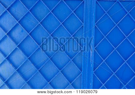 Background Of Blue Painted Metal Gate