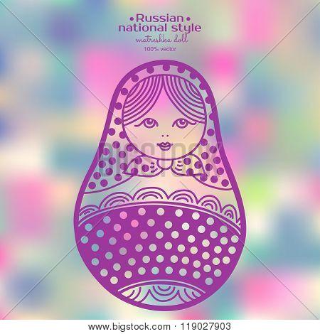 Vector Illustration Of Abstract Russian Matryoshka Dolls