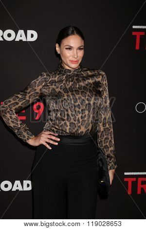 LOS ANGELES - FEB 16:  Patricia DeLeon at the Triple 9 Premiere at the Regal 14 Theaters on February 16, 2016 in Los Angeles, CA