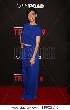 LOS ANGELES - FEB 16:  Perrey Reeves at the Triple 9 Premiere at the Regal 14 Theaters on February 16, 2016 in Los Angeles, CA