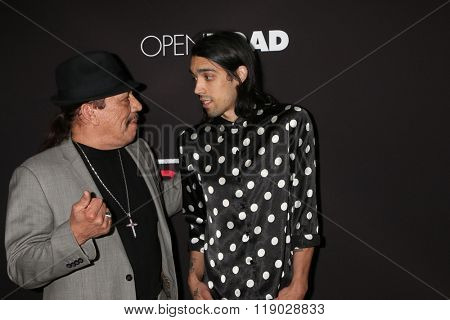 LOS ANGELES - FEB 16:  Danny Trejo, Gilbert Trejo at the Triple 9 Premiere at the Regal 14 Theaters on February 16, 2016 in Los Angeles, CA