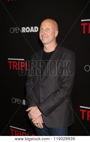 LOS ANGELES - FEB 16:  John Hillcoat at the Triple 9 Premiere at the Regal 14 Theaters on February 16, 2016 in Los Angeles, CA