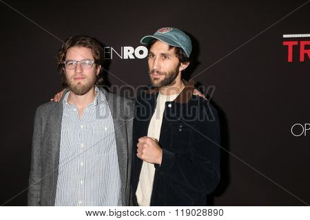LOS ANGELES - FEB 16:  Henry Joost, Ariel Schulman at the Triple 9 Premiere at the Regal 14 Theaters on February 16, 2016 in Los Angeles, CA