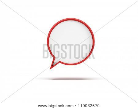 3d speech bubble, isolated 3d rendering