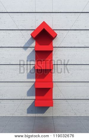 red arrow going upward