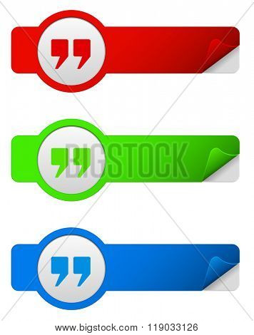 web banner with quote icon