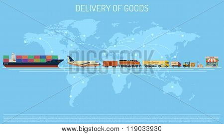 Delivery Of Goods Concept