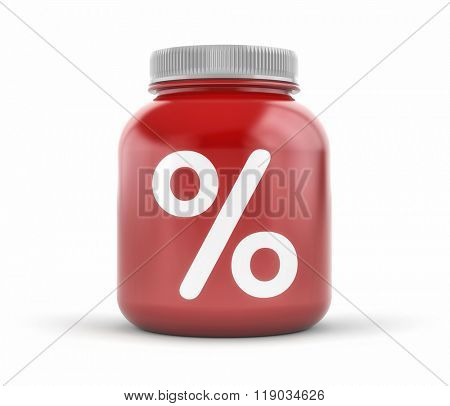Can with percent sign