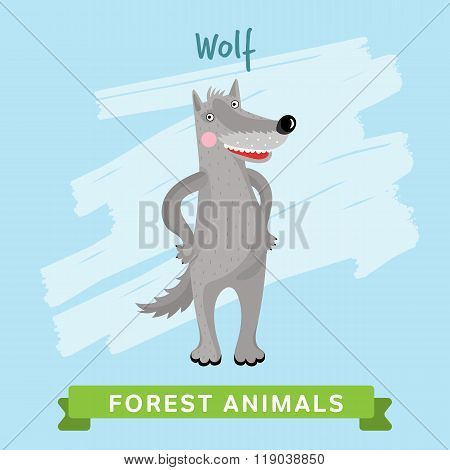 Wolf Raster, forest animals.