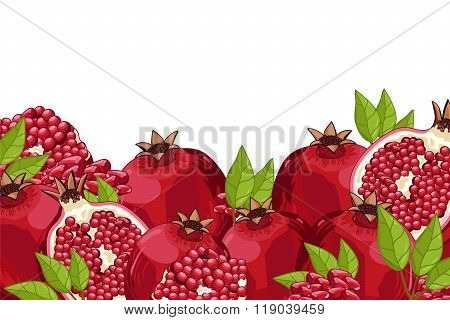Pomegranate composition Isolated