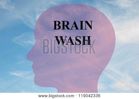 Brain Wash Concept