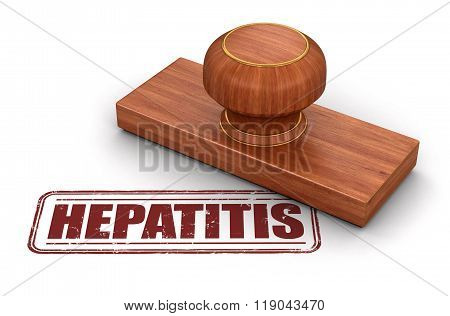 Stamp Hepatitis.  Image with clipping path