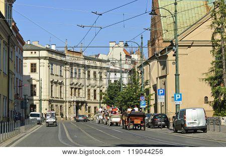 Franciszkanska Street In Krakow