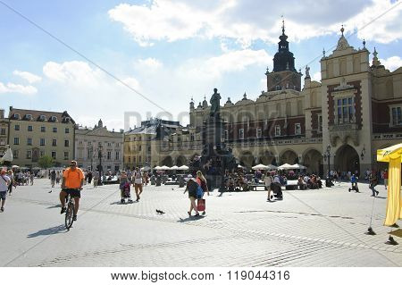 Main Market Square Of Krakow