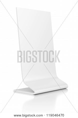 Outdoor Advertising Stand Banner On White Background.