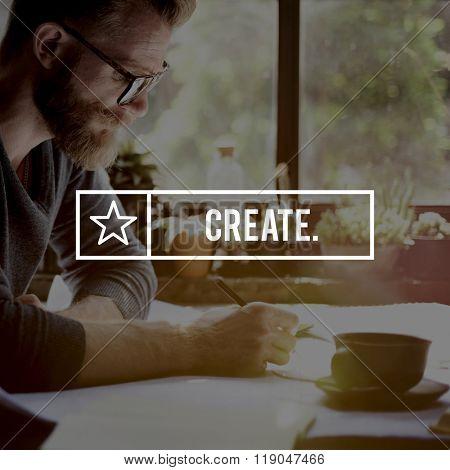 Create Ideas Design Creativity Imagination Inspiration Concept
