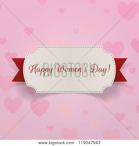 March 8 international Womens Day greeting Card