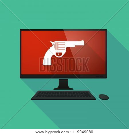 Personal Computer With A Gun