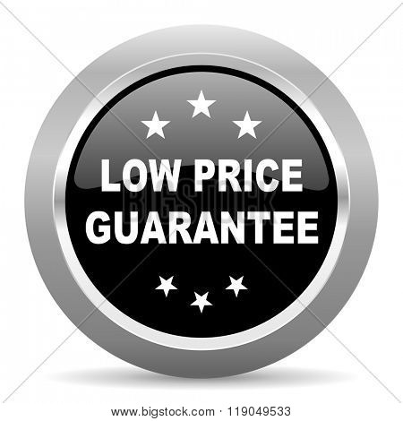 low price guarantee black metallic chrome web circle glossy icon