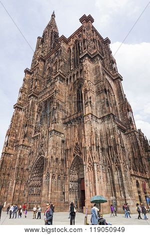 Tower Of Strasbourg Cathedral (notre Dame), France