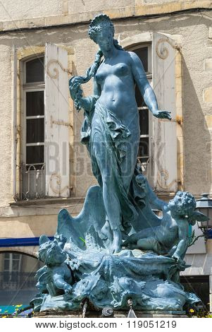 Limoux (france): Fountain