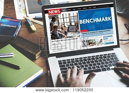 Benchmark Comparison Standard Performance Measurement Concept