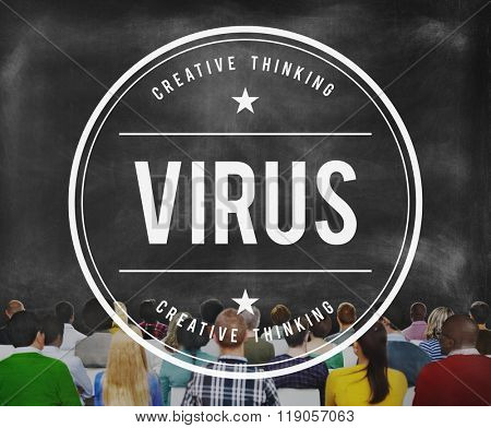 Virus Security Hacking Protection Risk Safe Digital Concept