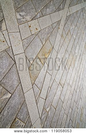 Brick In The  Casorate     Pavement Of A Curch   Marble