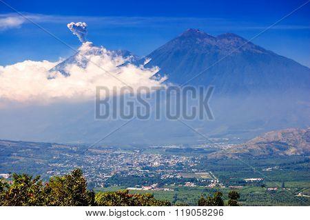 Active Fuego Volcano Erupts, Guatemala