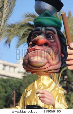 Caricature Of Muammar Gaddafi - Carnival Of Nice