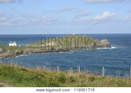 Headland At Newquay In Cornwall, England