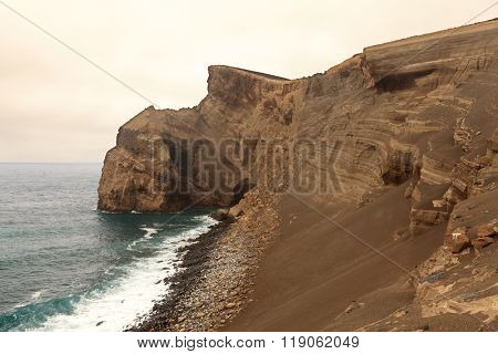 Volcanic landscape from Faial Island, Azores, Portugal