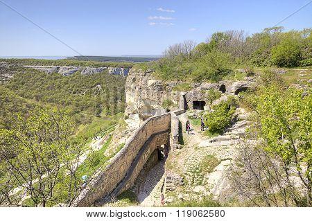 Crimea. Chufut-kale Spelaean City - The Fortress