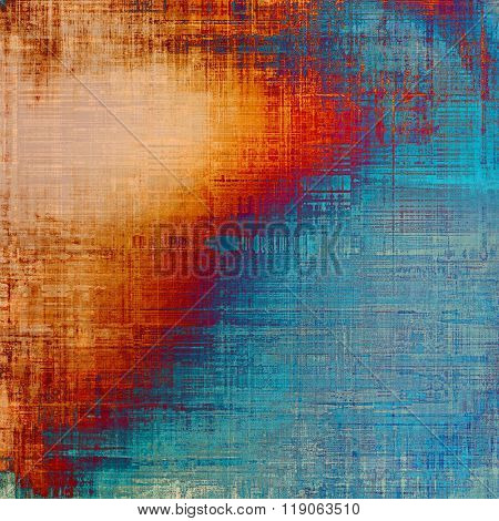 Antique vintage textured background. With different color patterns: yellow (beige); blue; cyan; purple (violet); red (orange)