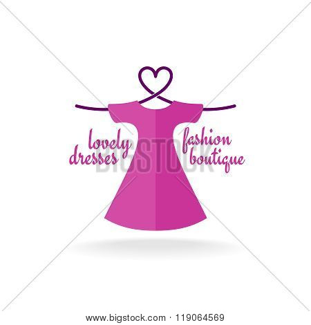 Fashion Boutique Dress With Heart Shaped Shoulder Hanger Logo
