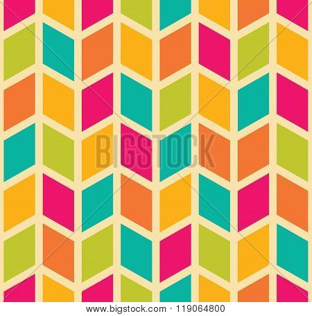 Vector modern seamless colorful geometry chevron pattern color abstract