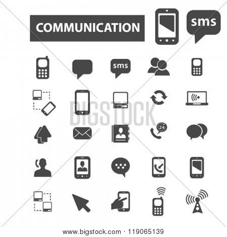 connect icons, communication icons vector, communication flat illustration concept, communication infographics elements isolated on white background, communication  logo, communication symbols set,