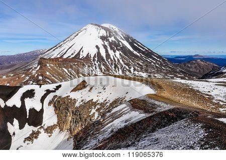 Mount Doom In The Tongariro National Park, New Zealand