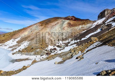 Red Crater In The Tongariro National Park, New Zealand