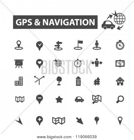 gps icons, gps logo, navigation icons vector, navigation flat illustration concept, navigation infographics elements isolated on white background, navigation logo, navigation symbols set, navigate