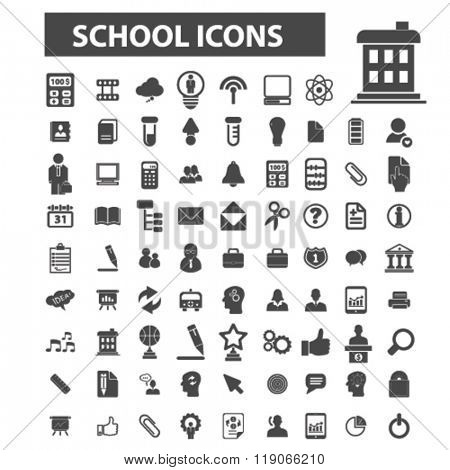 teach icons, teach logo, school icons vector, school flat illustration concept, school infographics elements isolated on white background, school logo, school symbols set, student, study, lesson